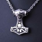 Ocelový Přívěsek - Thorovo kladivo / Mjolnir Hammer /Small (019)