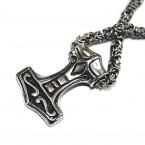 Ocelový přívěsek - Thorovo Kladivo / Thors Hammer Mjolnir (016)