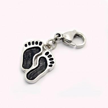 Ocelový přívěsek žužu - Stopy / Zuzu / Footprints (3597)
