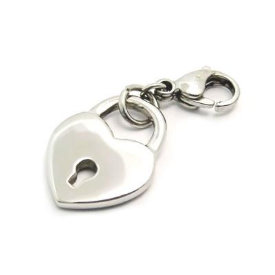 Ocelový přívěsek žužu - Srdce na Zámek / Zuzu / Locked Heart (3596)