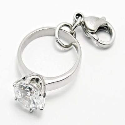 Ocelový přívěsek žužu - Prsten / Zuzu/  Stone Ring (3468)