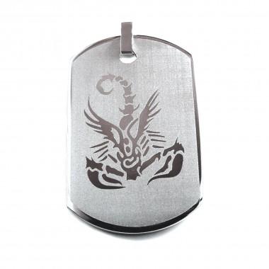 Ocelový přívěsek EXEED - Scorpion Card I.