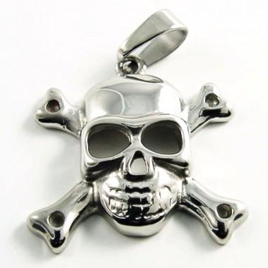 Ocelový přívěsek EXEED - Skull/Jolly Roger (2929)
