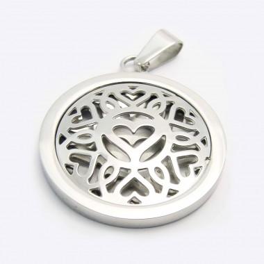 Ocelový přívěsek EXEED - Heart Circle (3413)