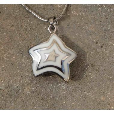 Ocelový přívěsek zn.EXEED - White Star