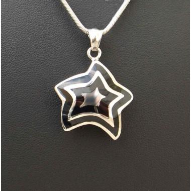 Ocelový přívěsek zn.EXEED - Black Star