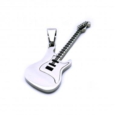 Ocelový přívěsek - Kytara / Guitar (6933)