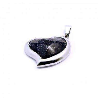 Ocelový přívěsek EXEED - Srdce / Black Heart Of Stone (3580)