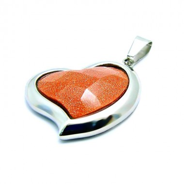 Ocelový přívěsek EXEED - Hnědé Srdce / Heart Of Stone (3580)