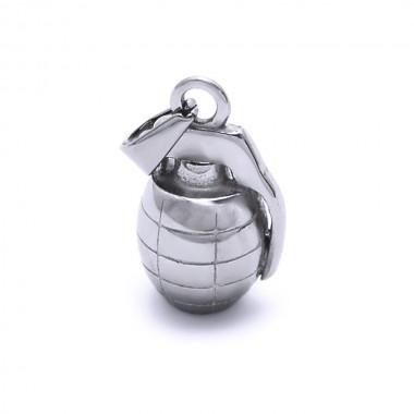 Ocelový přívěsek - Granát / shiny (6770)