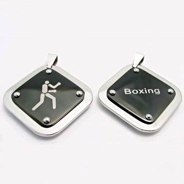 Ocelový přívěsek EXEED - Destička / Boxing (3460)