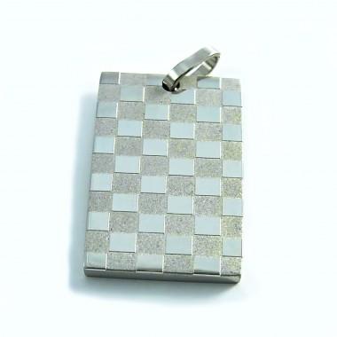 Ocelový přívěsek EXEED - Šachovnice / Chessboard
