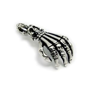 Ocelový přívěsek - skeleton hand (5854)