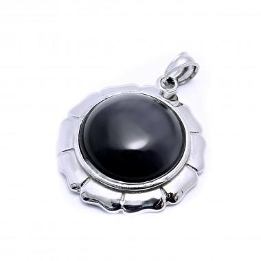 Ocelový přívěsek EXEED - Circle Black (3510Č)