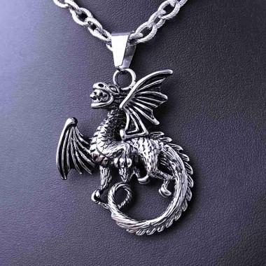 Ocelový přívěsek - Drak / Dragon (40390)