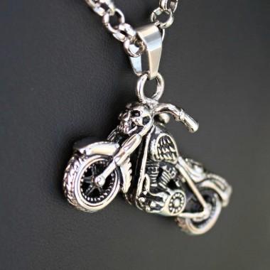 Ocelový přívěsek - Motorka / Motorcycle 06