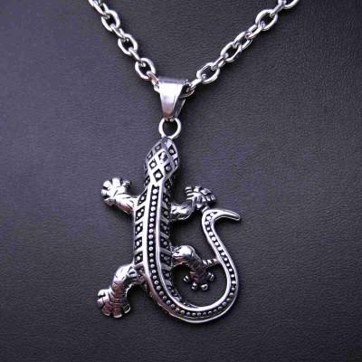 Ocelový přívěsek - Ještěrka / lizard (70048)