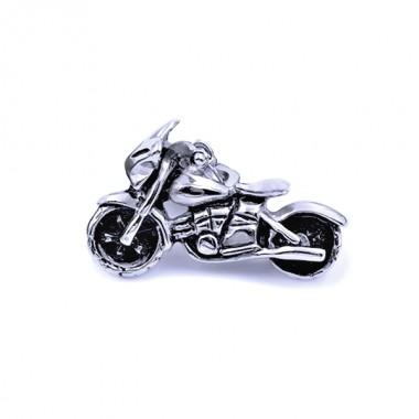Ocelový přívěsek - Motorka / Old school Motorcycle (8156)