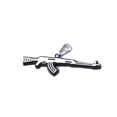 Ocelový přívěsek - Ak-47 / Samopal