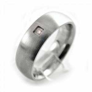 Ocelový prsten Andre Nicol - Stone / Matt (745)