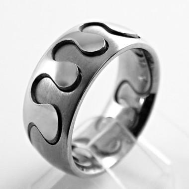 Ocelový prsten Andre Nicol -  Puzzle / Matt / Shiny (774)