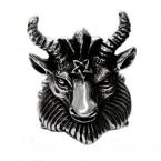 Ocelový prsten - Baphomet