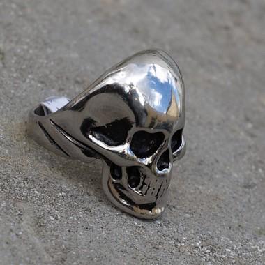 Ocelový prsten Skull 002