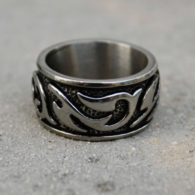 Ocelový prsten Masiv - Ornament I.
