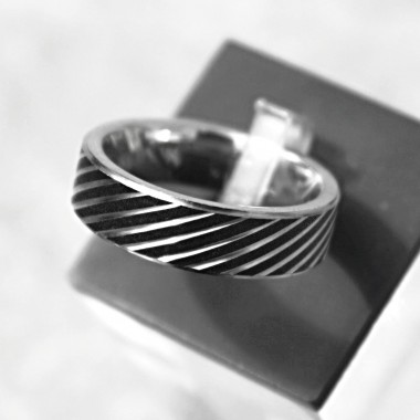 Ocelový prsten AAR - Blacklines