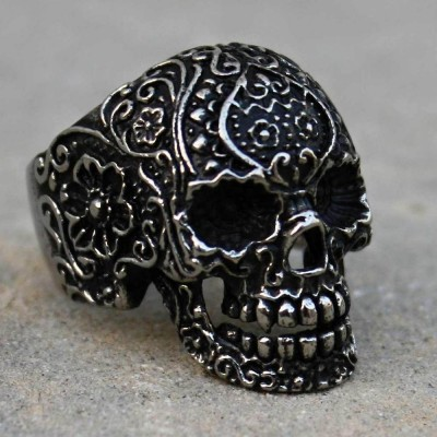Ocelový prsten Morte Skull I.