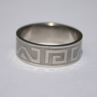 Ocelový prsten Ornament 002