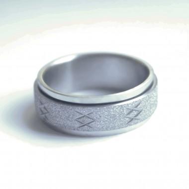 Ocelový prsten - Spinning SB.Ornament 003