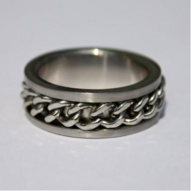Ocelový prsten Chain I.