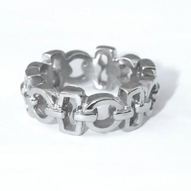 Ocelový prsten - Shiny (DJ.39)