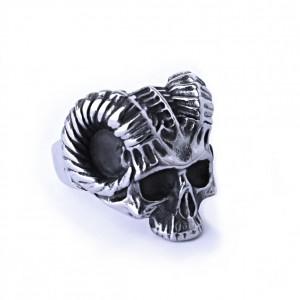 Ocelový prsten - Lebka Ďábla / Devil Skull (019)
