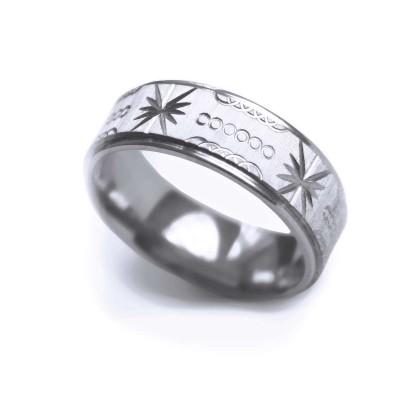 Ocelový prsten - MG Ornament 001