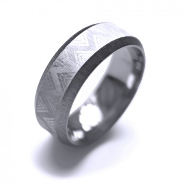 Ocelový prsten - MG Ornament 002