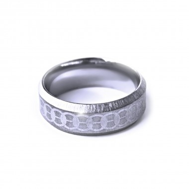 Ocelový prsten - MG Ornament 003
