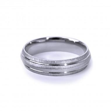 Ocelový prsten - MG / Dvě linky