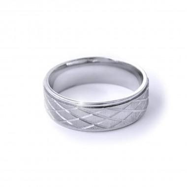 Ocelový prsten - MG Ornament 004