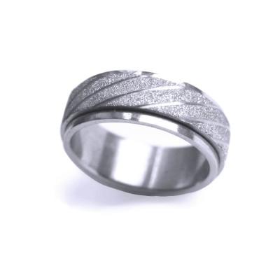 Ocelový prsten - Spinning SB.Ornament 004