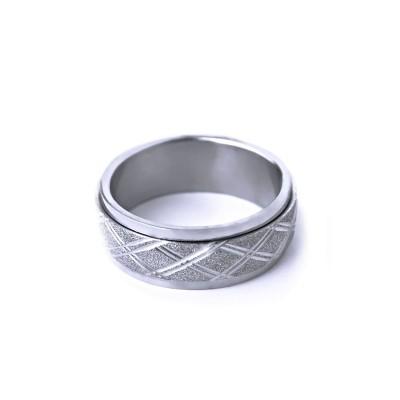 Ocelový prsten - Spinning SB.Ornament 005