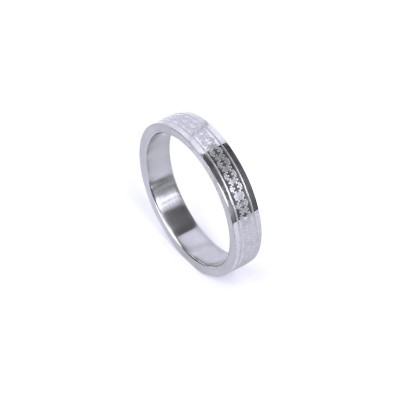 Ocelový prsten - Puzzle (021)