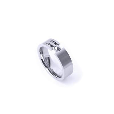 Ocelový prsten -  Mat / Kuličky / Lesk (021)
