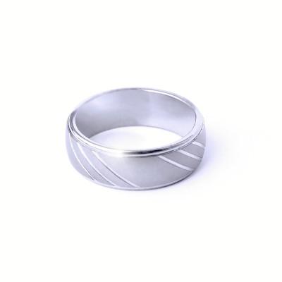 Ocelový prsten - 3 lines / Mat / Lesk (021)
