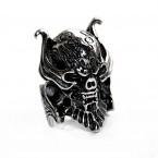 Ocelový prsten - Lebka / Dead Vampire Knight