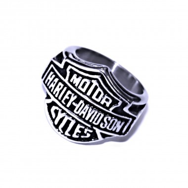 Ocelový prsten Harley Davidson