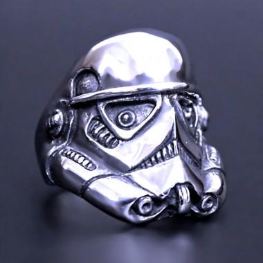 Ocelový prsten - Stormtrooper / Shiny (018)
