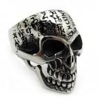 Ocelový prsten - Lebka / Ancient Script Skull
