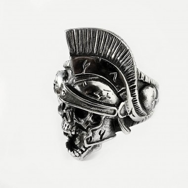 Ocelový Prsten - Lebka Pretoriana / Dead Preatorian Guard